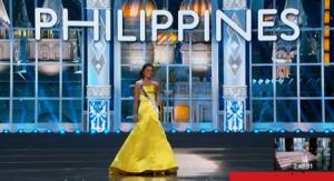 Ariella Arida in preliminary evening gown1