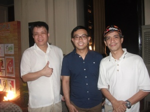 Mr. Lawrence Chan, Willard Cheng and Alfonso Cruz