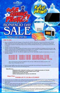 Bonifacio day sale 1