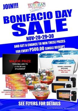 Bonifacio day sale 2014
