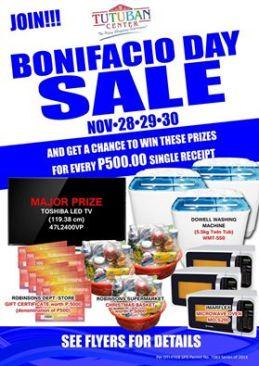 Bonifacio day sale 2014