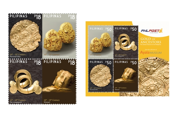 Pre-Hispanic Gold on Stamp Issued by PHLPOST