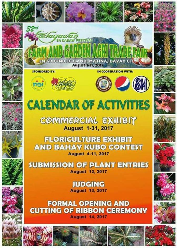 32nd Annual Kadayawan Festival Schedule of Events