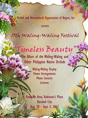 15th Waling-Waling Festival at Robinson's Place, Bacolod