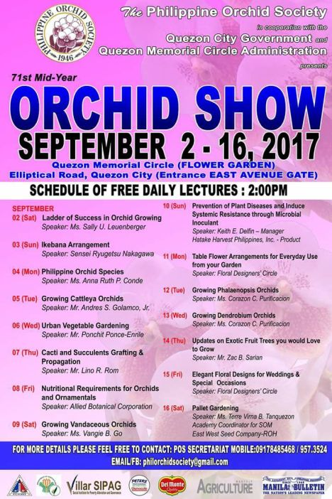 Orchid show lectures