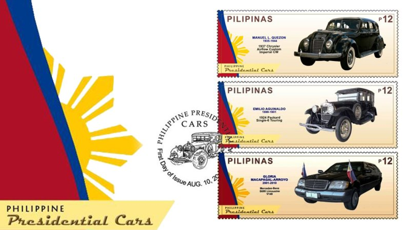 Philippine Presidential cars FDC.jpg