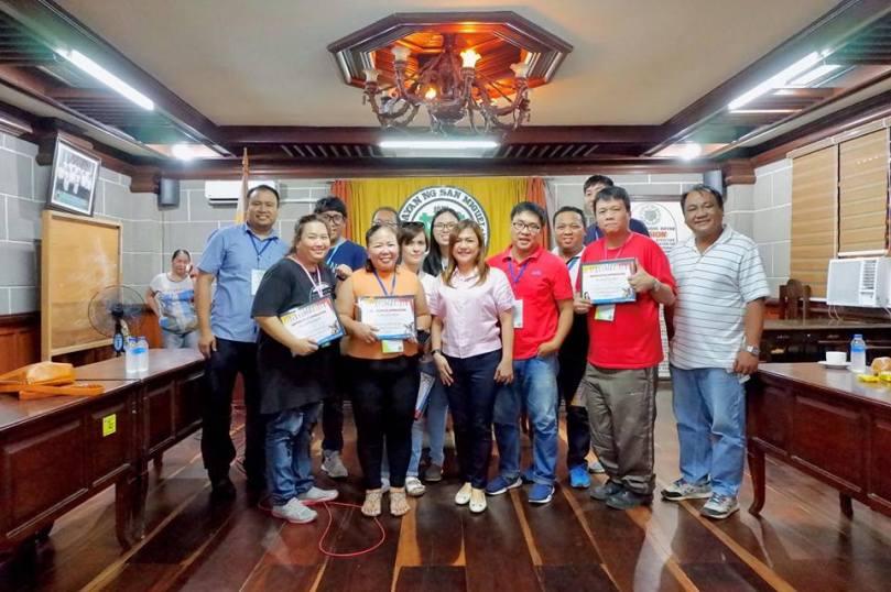 group photo with mayor coronel