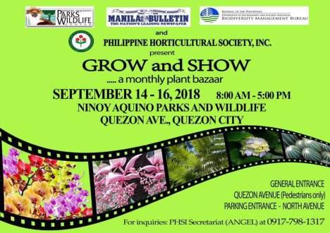 Grow and Show Bazaar Sept.