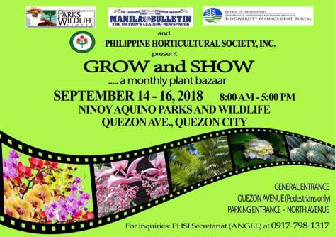 Grow and Show Bazaar Sept.