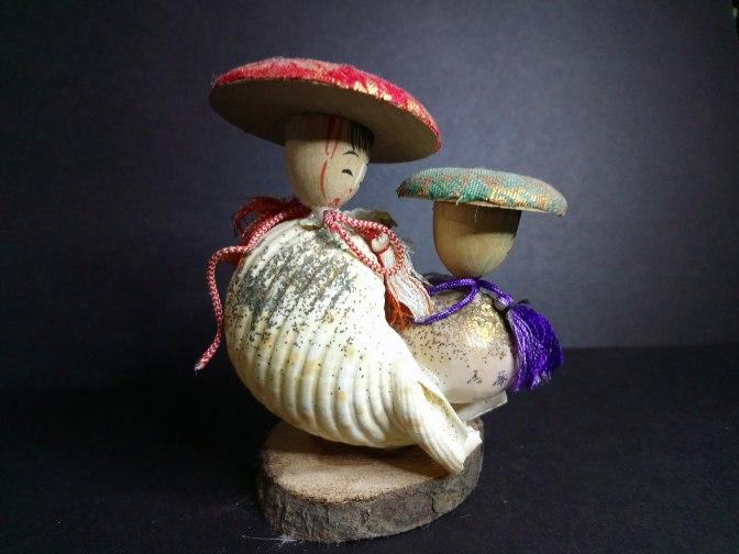 Interesting Shell Kokeshi Dolls