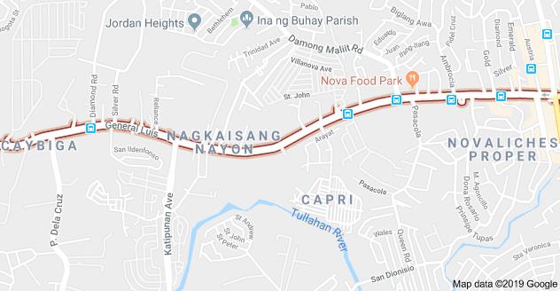 general-luis-street-map